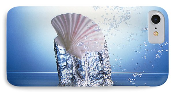 White Scallop Shell Being Raised IPhone Case by Panoramic Images