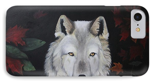 White Shaqdow IPhone Case by Lamarr Kramer