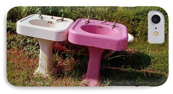 White Sink  Pink Sink IPhone Case