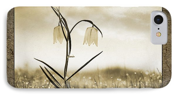 White Snakes Head Fritillary In Morning Dew IPhone Case