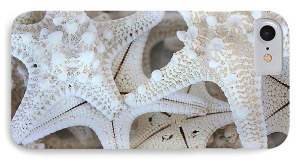 White Starfish Phone Case by Carol Groenen