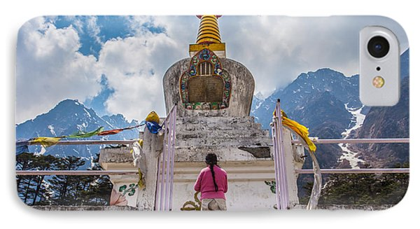White Stupa At Yumthang Valley In Lachung North Sikkim India IPhone Case by Nattee Chalermtiragool