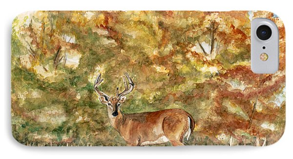 White Tail Buck In The Ozarks  Phone Case by Patty Vicknair