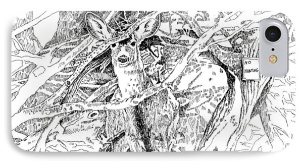 White-tail Encounter IPhone Case by Bern Miller