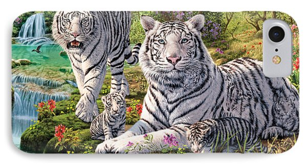 White Tiger Clan IPhone Case by Steve Read