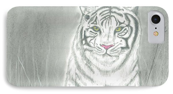 White Tiger IPhone Case by David Jackson