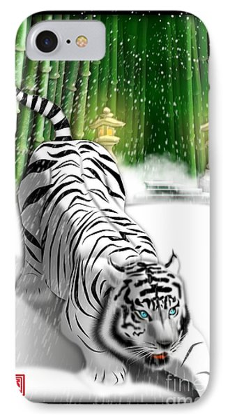 White Tiger Guardian IPhone Case
