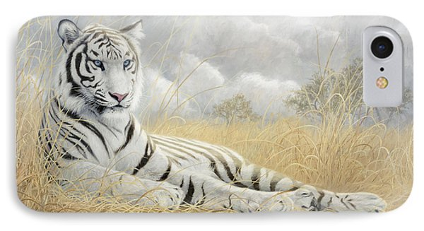 White Tiger IPhone 7 Case by Lucie Bilodeau