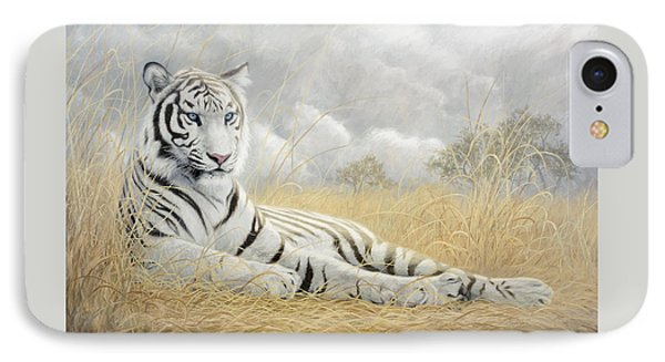 White Tiger IPhone Case by Lucie Bilodeau