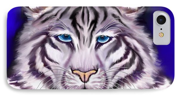 White Tiger IPhone Case by Nick Gustafson
