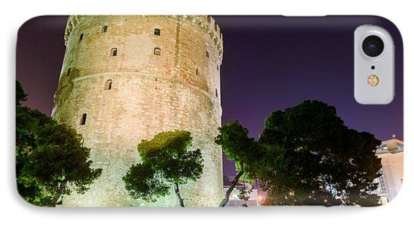 White Tower In Salonica Greece Phone Case by Sotiris Filippou