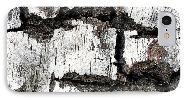 IPhone Case featuring the photograph White Tree Bark by Crystal Hoeveler