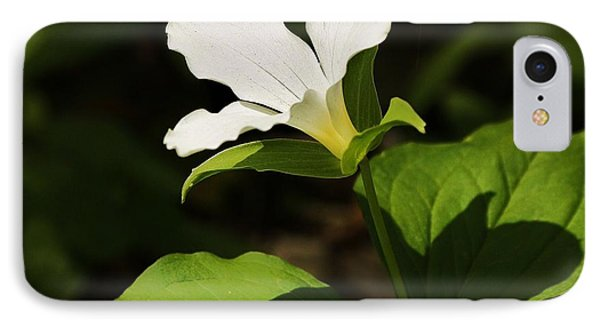 IPhone Case featuring the photograph White Trillium by Al Fritz