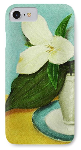 White Trillium IPhone Case by Anastasiya Malakhova
