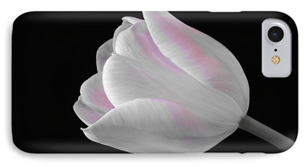 IPhone Case featuring the digital art White Tulip With Pink by Jeannie Rhode