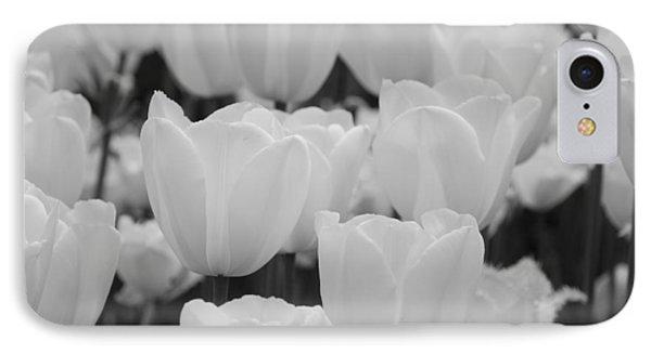 White Tulips B/w Phone Case by Jennifer Ancker