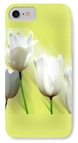 White Tulips Phone Case by Ben and Raisa Gertsberg