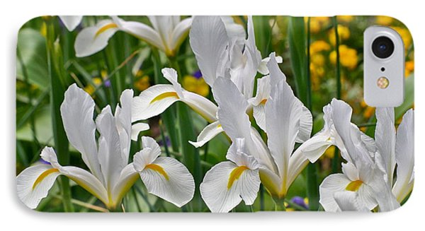 IPhone Case featuring the photograph White Van Vliet Iris by Eve Spring