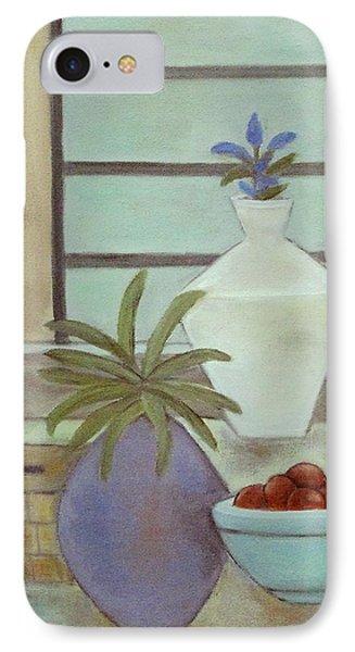 White Vase IPhone Case by Trish Toro