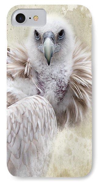 White Vulture  Phone Case by Barbara Orenya