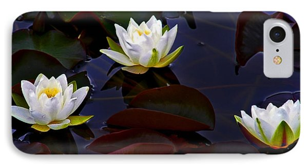 White Water Lilies IPhone Case by Nina Ficur Feenan