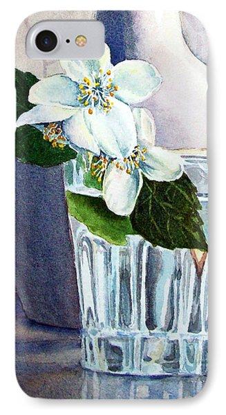 White White Jasmine  Phone Case by Irina Sztukowski