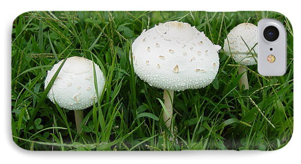 IPhone Case featuring the photograph White Wild Mushrooms by Dorothy Maier