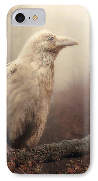 White Wild Raven Phone Case by Cindy Grundsten