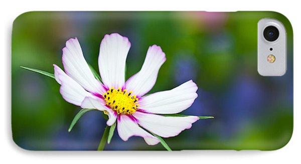 White Wildflower IPhone Case by Joan Herwig