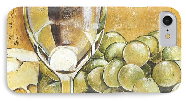 White Wine And Cheese IPhone 7 Case by Debbie DeWitt