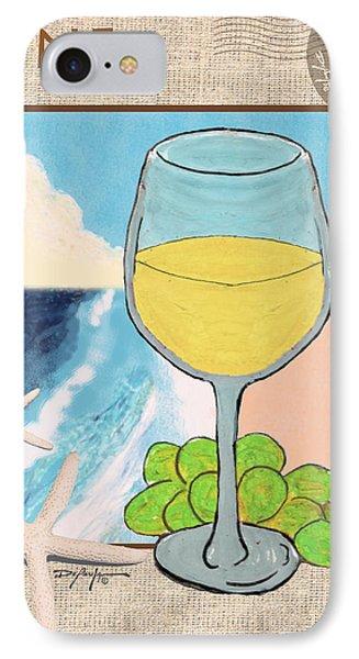 White Wine Beachside Phone Case by William Depaula