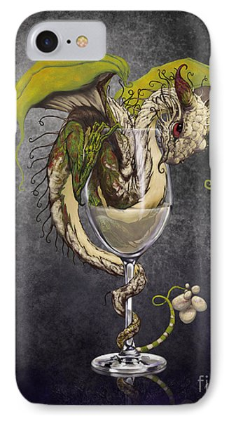 White Wine Dragon IPhone Case by Stanley Morrison