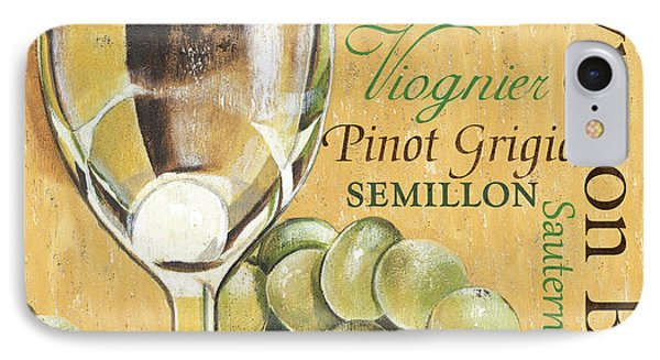 White Wine Text IPhone Case by Debbie DeWitt