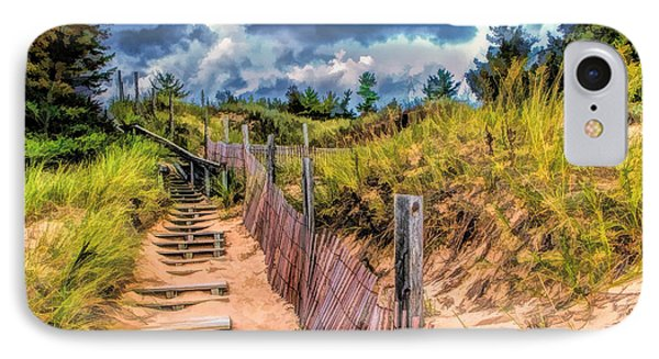 Whitefish Dunes State Park Stairs IPhone Case by Christopher Arndt