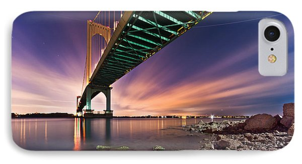 IPhone Case featuring the photograph Whitestone Bridge by Mihai Andritoiu