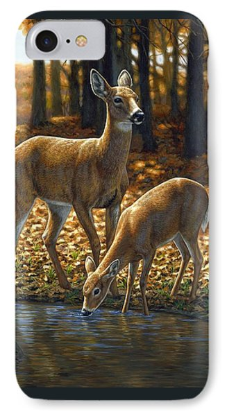 Whitetail Deer - Autumn Innocence 1 Phone Case by Crista Forest