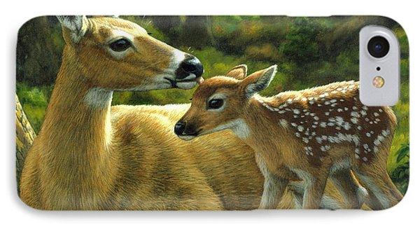 Whitetail Deer - First Spring - Square IPhone Case