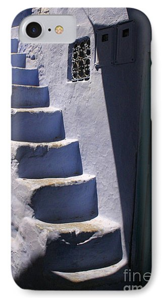 Whitewashed Steps In The Medina Of Asilah On Northwest Tip Of Atlantic Coast Of Morocco IPhone Case