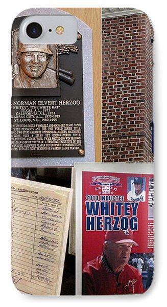 Whitey Herzog IPhone Case by John Freidenberg