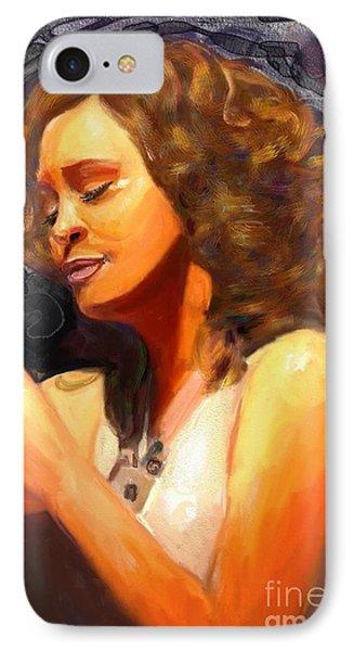Whitney Gone Too Soon IPhone Case by Vannetta Ferguson