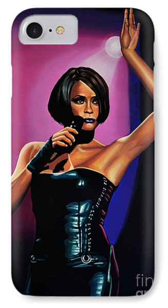 Whitney Houston On Stage IPhone Case by Paul Meijering