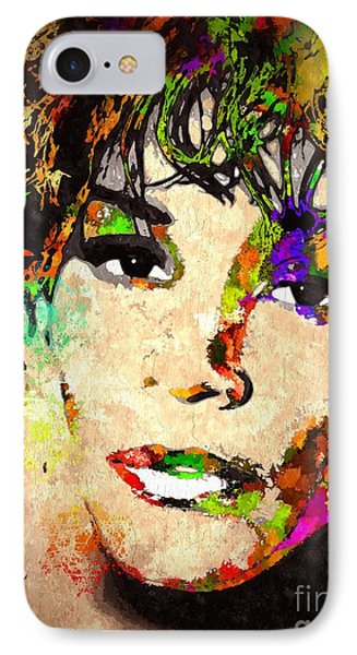 Whitney Houston IPhone Case by Daniel Janda