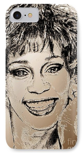 Whitney Houston In 1992 Phone Case by J McCombie