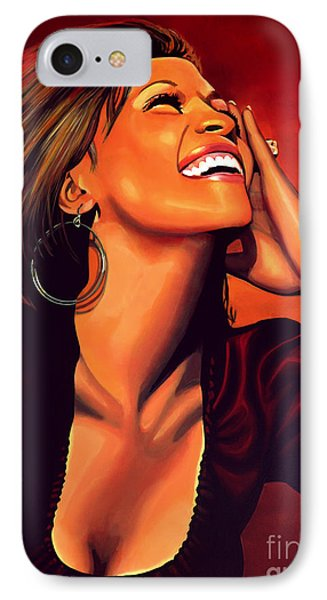 Whitney Houston IPhone 7 Case by Paul Meijering