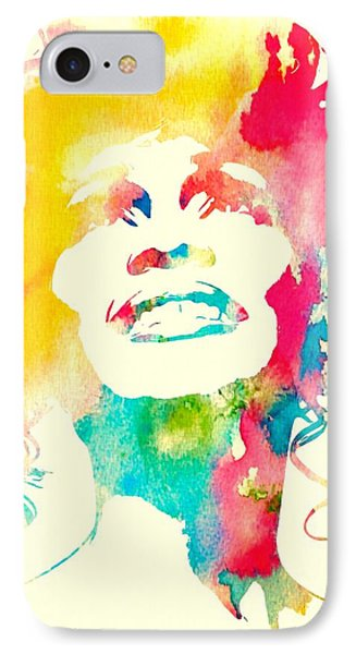 Whitney Houston Watercolor Canvas IPhone Case