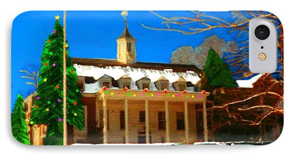 Whittle Hall At Christmas IPhone Case by Bruce Nutting