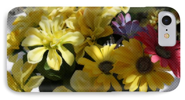 IPhone Case featuring the photograph Whittle Yellow Basket Of Flowers by Sherri  Of Palm Springs