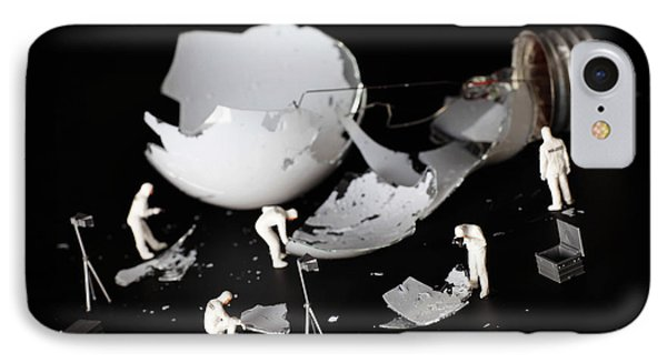 Who Broke The Light Bulb Little People Big Worlds IPhone Case by Paul Ge