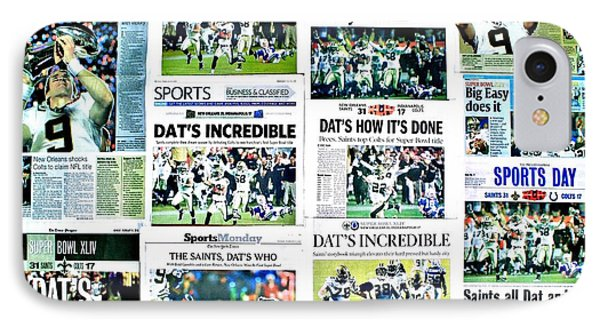 Who Dat Headlines IPhone Case by Benjamin Yeager