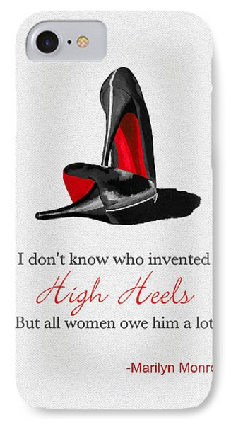Who Invented High Heels? IPhone Case by Rebecca Jenkins